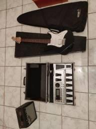Vendo: Guitarra, cubo e Pedaleira GT10