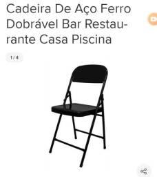 Cadeira De Aço Ferro Dobrável Bar