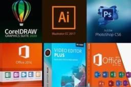 Pacotes de Edição -Corel Draw, Office, Photoshop, Editor de Vídeo, Programas de Edição