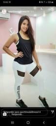 Legging esportiva branca