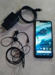 Moto one 64 GB semi novo biometria ok câmera toop bateria duradoura