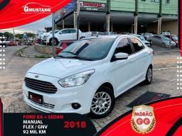 Título do anúncio: Ford ka + SEDAN 2018 C GNV EXTRAAA ( Gmustang veiculos )