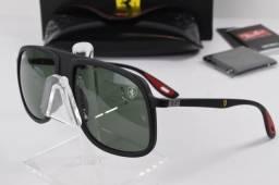560d22a7ac8db Óculos Ray-Ban RB4308m Preto Fosco Scuderia Ferrari Collection - Importado  e Novo