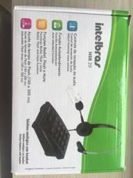 Telefone analógico com headset