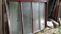 Janela de ferro 1,50 x 1,20 + grade de proteção