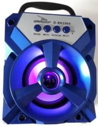Caixa De Som Caixinha Bluetooth Bateria Usb Micro Sd Amplificada Nova