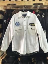 Camisa Manga Longa Branca - Impermeavel e Forrada - Berkley & Jensen - Tam G