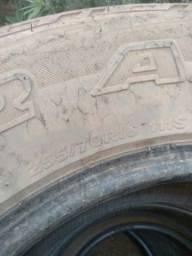 Pneus caminhonete/suv aro 16 - meia vida - 255/70/16 4 pneus por 300