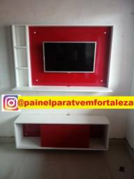Painel com rack suspenso entrega ,instalação gratis p/ tv ate 43