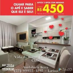 LSK-10 Apt°com Quintal,Piscina,Churrasqueira,Academia em Centro da Serra!!!