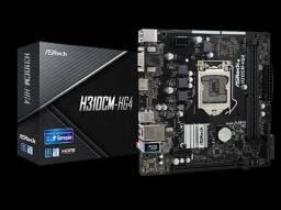 Placa mãe ASRock H310CM-HG4 Suporta Processadores Intel® Core? de 8ª e 9ª Geração Open Box