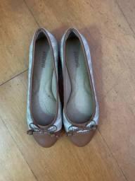 Sapato sapatilha Anacapri bege e marrom 36