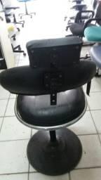 Cadeira para salão usada preta