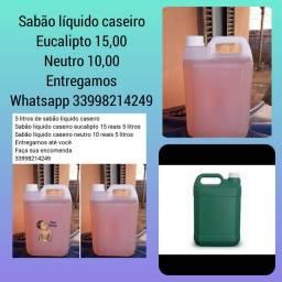 Sabão líquido caseiro 5 litros