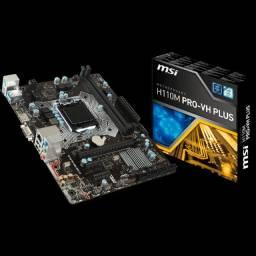 Kit placa mãe h110m ddr4 com processador Intel g4560