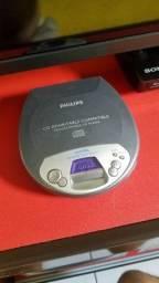 Discman perfeito, ideal para coleção ou ouvir seus CDs favoritos
