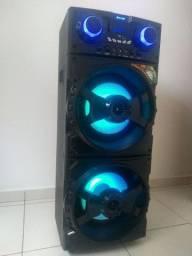 Caixa de som Amvox Aca 1001 Turbo Player com bluetooth preta 220v