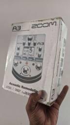 Pedaleira Zoom A3 Acoustic Remodeling Processador Multiefeitos Para Violão Zerada