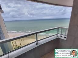 Alugo flat deluxe de alto padrão na Avenida Boa Viagem andar alto e vista espetacular