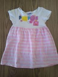 Vestido pepa2/3 anos, roupa de ballet 2 anos
