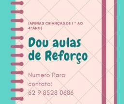 DOU AULAS DE REFORÇO CRIANÇAS 1° AO 4° ANO.