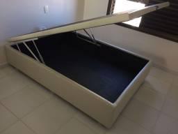 ::: Cama Box Bau Casal 138x188 A Pronta Entrega Melhor Preço Confira