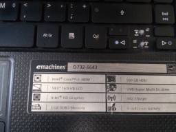 Notebook Acer eMachines D732 - 6643 / Intel Core i3