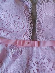 Vestido curto renda guippir