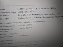 Notebook Samsung, 4GB Ram/ 500 GB HD/ Placa de rede 10/100/1000