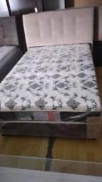 Cama box Viuvo1,20 x 1,88 com 10 cm espuma - Novo