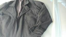 Jaqueta blazer social esportivo de lã preto Villa romana