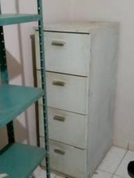 Arquivo gaveteiro de aço 4 gavetas e Estante Aço Multi-uso C/reforço 5 Prateleira