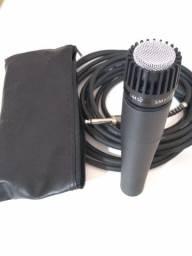 Microfone SM57 + cabo XLR-P10