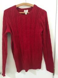 Blusa de lã vermelha importada!