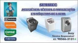 Máquinas de lavar roupas e geladeira