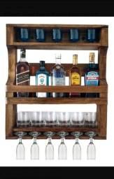 Porta whisky rústico