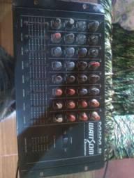 Mesa de som watt som profissional 8 canal
