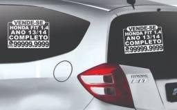 Placa Adesivo Vendo Vende-se Veículo Carro