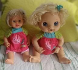 Bonecas baby live e little mommy dodoi