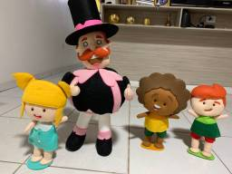 Aluguel bonecos feltro Mundo Bita
