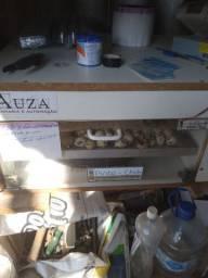 Chocadeira ten tres uma 400 ovos codor outra 200 outra 700 ovos