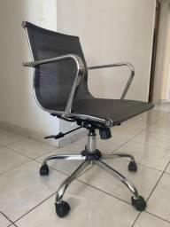 Cadeira de escritório ergonômica cinza/prata