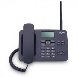 Telefone Celular Rural Fixo De Mesa Longo Alcance Quadriband Dual Chip CA-42S