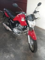 Moto titan fan 125 es ano 2014 cor vermelho com 25mil km original