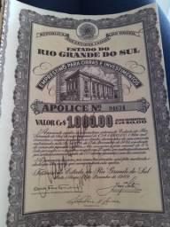 Apólice do Tesouro do Estado do RS
