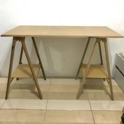 Mesa de cavaletes completa MDF - Belford Roxo