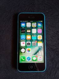 IPhone 5c 16GB Azul em Excelente Estado + carregador e 2 capinhas