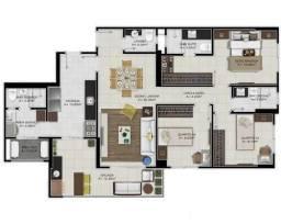 *More na Batista Campos/ apartamento com 111m²
