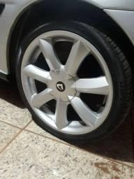 Vendo rodas 17 santorine Vulcano ,top sem detalhes pneus seminovos ,205x40