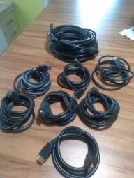 8 cabos USB incluindo um de 10 mt